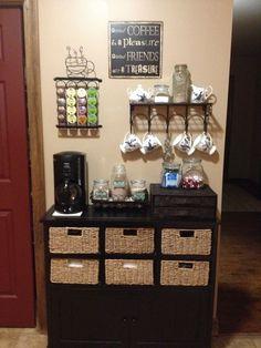 Home Coffee Bar Made From An Old Dresser Description From Pinterest Com