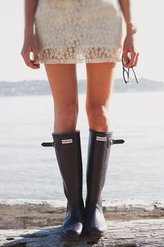 The Fashion Mood Book: How to wear wellies.