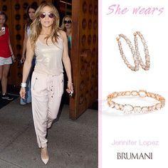 Jennifer Lopez stunning wearing BRUMANI! Looping Shine Collection! #brumani #beauty #loopingshine #jenniferlopez #jewel #glamour #fashion #glam #freshfrombrazil #diamonds #quartz #bracelet #bangle #earrings #gorgeous #jewelry #musthave #lookoftheday #glamurous #mustbuy #instajewel #instafashion