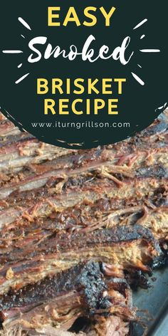 How to make the best smoked brisket recipe with an easy Texas smoked brisket rub. You can serve with BBQ sauce, but this is delicious enough even on it's own. Can be used on an electric smoker, Traeger grill, or Big Green Egg...the smoker is up to you! We can guarantee you won't have much leftover after you serve this to your family and friends #smoker #traeger #brisket #Texas #BBQ Smoked Brisket Rub, Best Smoked Brisket Recipe, Brisket Marinade, Smoked Beer Can Chicken, Canned Chicken, Texas Bbq, The Best, Can Chicken Recipes