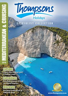 Thompsons Holidays is your destination specialist. Check out our brochures! Explorer, Top Destinations, Brochures, South Africa, Water, Holiday, Outdoor, Collection, Gripe Water