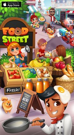Create the restaurant of your dreams, Build your kitchen at your own pace and have endless Fun with a huge selection of fresh ingredients. Collect tasty dishes to cook from all around the world to keep your customers HAPPY. Visit friends, trade items with other shop owners around town and play together in the tastiest restaurant management simulator around! PLAY for FREE NOW!