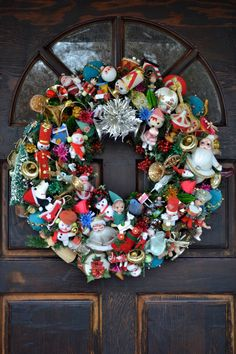 Large Christmas Bells Decorations Large Christmas Wreath Made With All Vintageshescrafty121 On