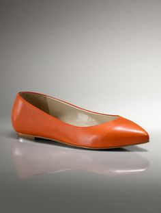 Leather pointy flats