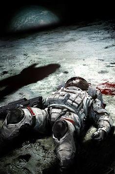 Art by Bagus Hutomo Astronaut Arte Sci Fi, Sci Fi Art, Space Illustration, Major Tom, Astronauts In Space, Lost In Space, Science Fiction Art, Retro Futurism, Sci Fi Fantasy