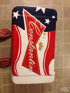 Custom Painted Cooler large by everymileamemory on Etsy, $150.00