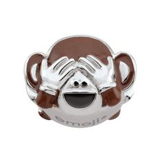 #NewYear #Zales - #Zales emoji® by Persona® Sterling Silver Enamel See No Evil Monkey Charm - AdoreWe.com