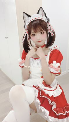 Maid Cosplay, Cosplay Dress, Cosplay Outfits, Cosplay Costumes, Anime Cosplay Girls, Kawaii Cosplay, Cute Cosplay, Cute Asian Girls, Beautiful Asian Girls