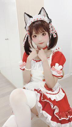 Maid Cosplay, Cosplay Dress, Cosplay Outfits, Cosplay Costumes, Cosplay Kawaii, Anime Cosplay Girls, Cute Cosplay, Cute Asian Girls, Beautiful Asian Girls