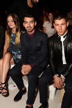 Emily Meade, Joe and Nick Jonas. [Photo by Steve Eichner]