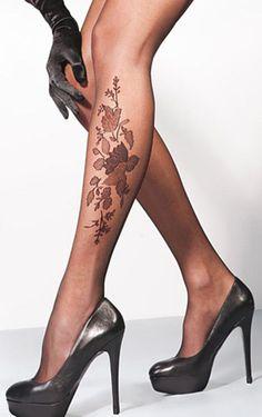 Sheer floral tights