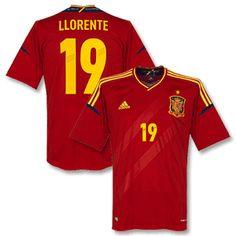 0be9ea32fd8 football shirts adidas 12 13 spain home shirt llorente 19 official
