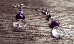 Seeing Purple Dangle Earrings by thedragonsdencrafts on Etsy
