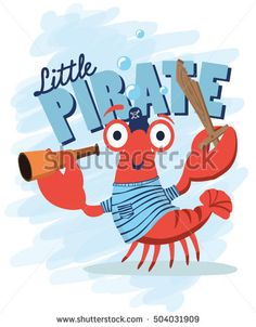 crab, pirate crab, Crab icon vector, Cartoon crab funny vector illustration, Red crab isolated on white background vector, Flat red crab marine seafood character,T-shirt Graphics