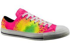 Neon tie-dye pattern for Converse Sneakers