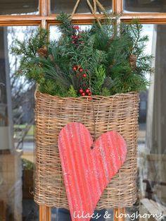 Corrugated metal Valentine heart Lilacs & Longhorns