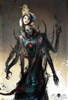 Tagged with monsters, rpg, inspiration, character art; Fantasy Kunst, Dark Fantasy Art, Fantasy Artwork, Dark Art, Fantasy Monster, Monster Art, Art And Illustration, Art Illustrations, Arte Horror