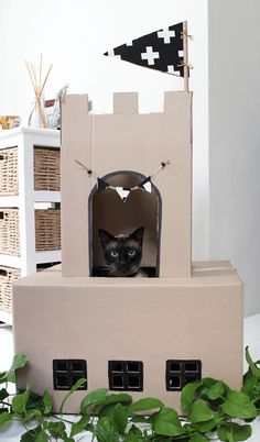 Want to give your cat all the fun of a humble cardboard box with a designer twist? We've source 9 of the coolest cardboard houses for modern moggies! http://www.styletails.com/2017/04/10/9-of-the-coolest-cardboard-cat-houses/