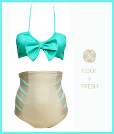 SOAK SWIMWEAR Online Shop - RIBBED HIGH WAIST---gonna need a swimsuit like this after my baby comes!