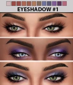 Eyeshadow #1 at Hallow Sims via Sims 4 Updates