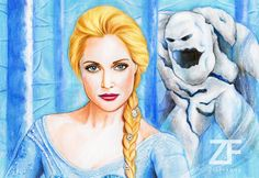Gorgeous drawing of Elsa sent in by @ZiaFranny