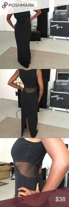 Long black maxi dress small mesh sexy fitted Yooo check out this black maxi!! Super sexy and fitted. Mesh cutout on sides and lower back. Bring out your inner Morticia!! Size small! Dress to impress now!! 🕷🕷🕷 #allthatjazz #womensfashion #womensclothing #womensdress #maxi #maxidress #mesh #sexy #morticia #addamsfamily #goth #witch #formal #vintage #retro #forsale #depop #poshmark #ebay #vinted #smallbusiness #blackowned #woc #luxury #expensive all that jazz Dresses Maxi