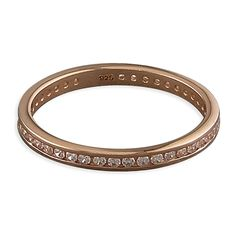 Rose gold-plated white cubic zirconia channel-set band  Available in sizes K - S £21.99