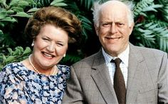 Hyacinth Bucket on 'Keeping up Appearances' (played by Patricia Routledge, pictured with Clive Swift) always pronounces her surname 'Bouquet'