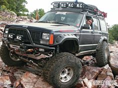 Transplant Patient: 1996 #JeepCherokee XJ - This Jeep XJ was Upgraded with Inexpensive JK Parts that Improve its Off-Road Capabilities - See More Pictures Here: http://www.4wdandsportutility.com/features/jeep/1207_4wd_transplant_patient_1996_jeep_cherokee_xj/
