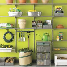 organized-garage.jpg...now I'm going to want to paint my garage lime green before I try this idea!  Love it!!!