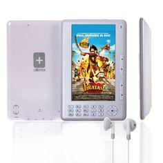 eBook LO+DEMODA de 4GB, con pantalla TFT de 7 pulgadas, en color gris