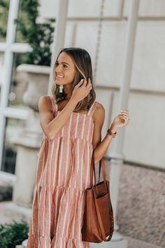 lauren sims madewell striped midi dress