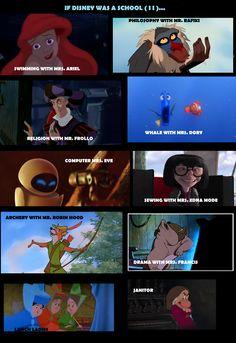 If Disney was a school...2