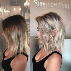 Here is a before and after to my previous post! She has a tone of hair but with patience and focus on all the details you can achieve this icy blonde ❄️