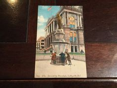 9780 The Drinking Fountain Antique Postcard Lafayette Indiana Acmegraph 1912 PM