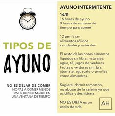 8 horas de ayuno intermitente