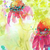 Dappled Blooms ... watercolor by Sara Berrensen