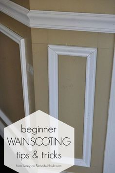Installing trim wainscoting, such as a chair rail or shadow box molding, instantly updates your home. Follow these tips for a great finished result, even for beginners.