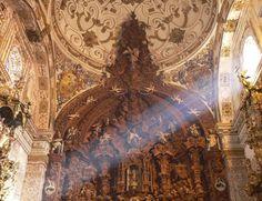Cupula del Carmen Baroque, Iglesias, Twitter, Painting, Costa, Interior, Sun, Arquitetura, Night