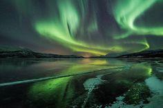 """""""Cracks on ice"""" by Ole Salomonsen   Arctic light photo - Ole Salomonsen Photography"""