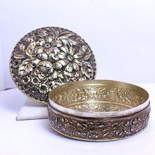 Vintage Gorham Sterling Silver Repouss� Powder Box