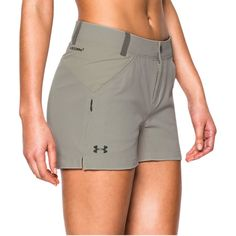 09e14afc3a56 Under Armour Armourvent Trail Short - Women s Graystone Combat Green Hiking  Wear