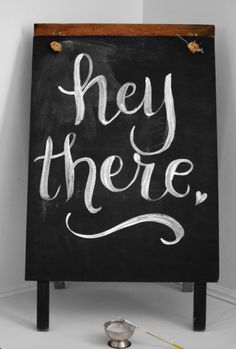 "Chalkboard--font for wedding welcome sign ""Welcome! Eat, Drink & Be Merry!"""