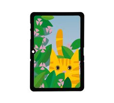 Protective Samsung Galaxy 2 (10.1) Case Kitty 3. $25.00, via Etsy.
