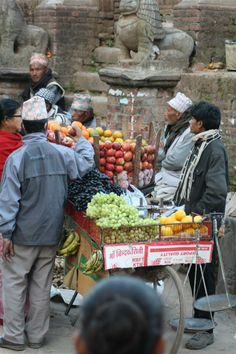 Fruits are sold from the customised bicycle