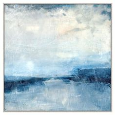 Blue Essence Abstract Canvas Painting - II