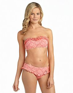 Betsey Johnson Beachwear for Women Swimsuits, Bikinis, Swimwear, Bandeau Swim Tops, Beachwear For Women, Betsey Johnson, Bathing Suits, Style Me, Dress Up