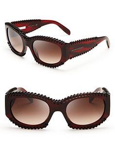 b50015e7c9bd41 Burberry Leather Wrapped Sunglasses   Bloomingdale s Accessoires,  Bouteille, Lunettes De Soleil Oakley, Sacs