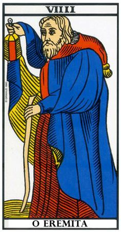 The Hermit: Tarot of Marseille Free Psychic Reading Online, The Hermit Tarot, Tarot Major Arcana, Guardian Angels, Card Reading, Tarot Decks, Tarot Cards, Fictional Characters, Marseille