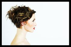 """House of Karg - """"Freehand graduation created the shape of this profile, with weight removed by touching where it feels heavy and balancing the silhouette.""""  